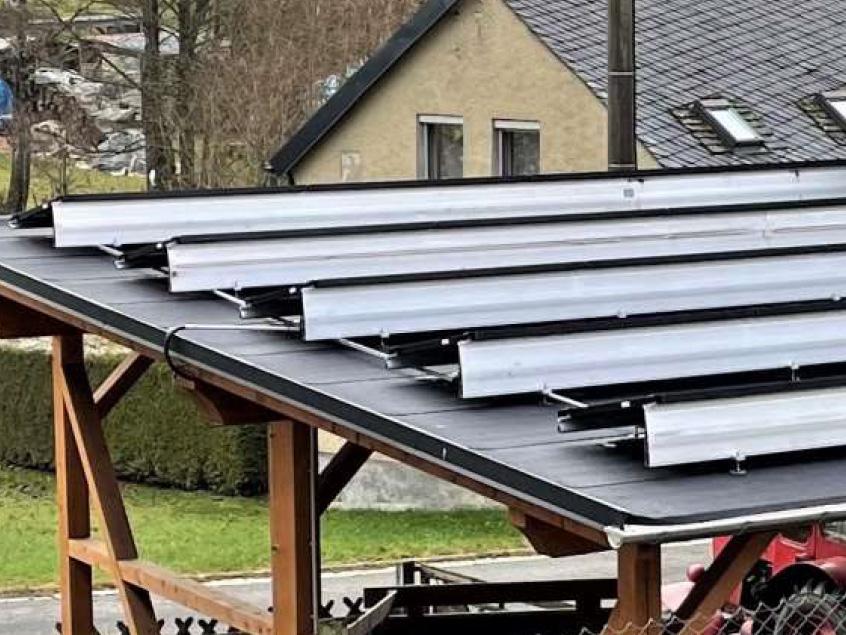 Förderprojekt Schöneck Aufdachanlage